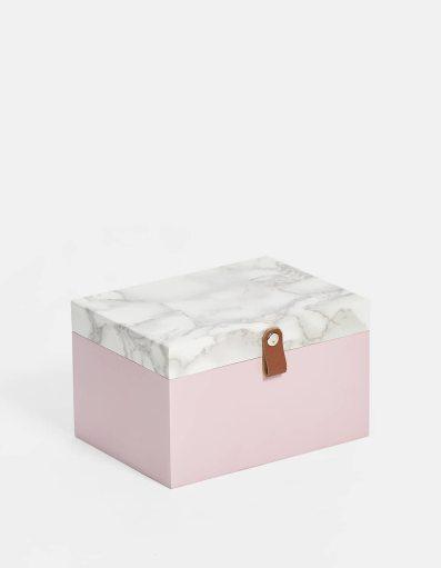 Caixa rosa e mármore | Stradivarius - 7.99€
